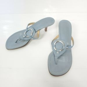 Coach Blue Tricia Thong Sandals Sz 8.5B